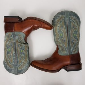 Ariat ATS 9.5 cowboy boots leather western cowgirl